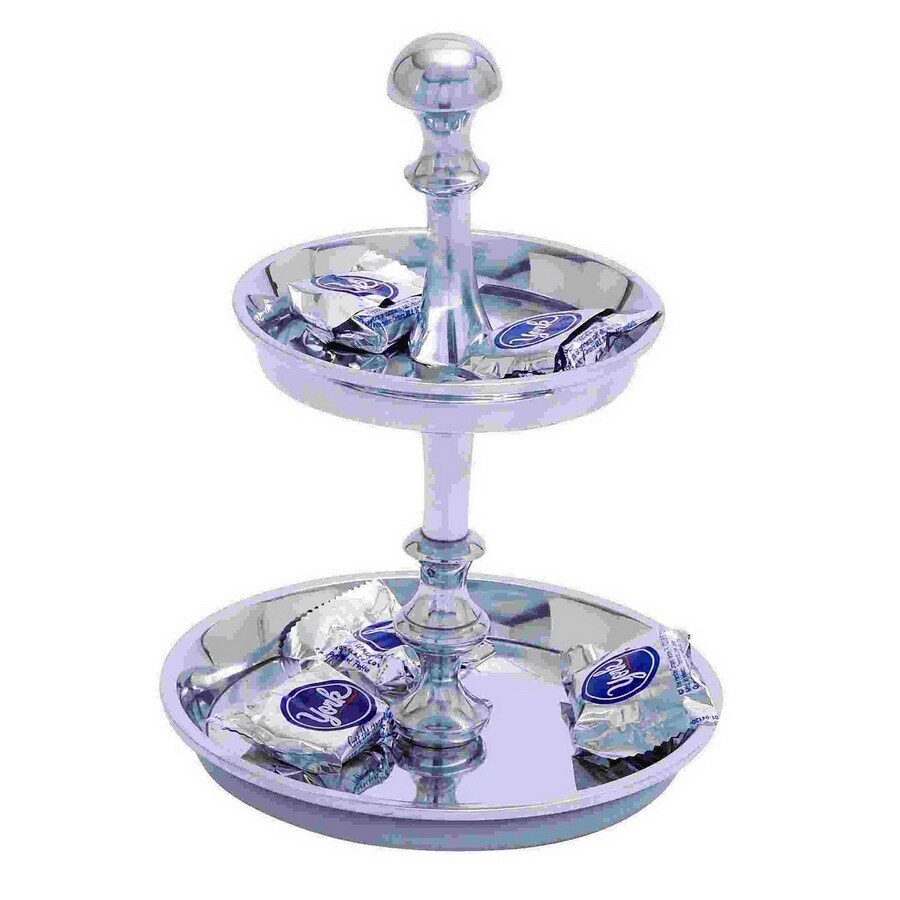 Woodland Imports 2-Tier Pedestal Round Candy Tray