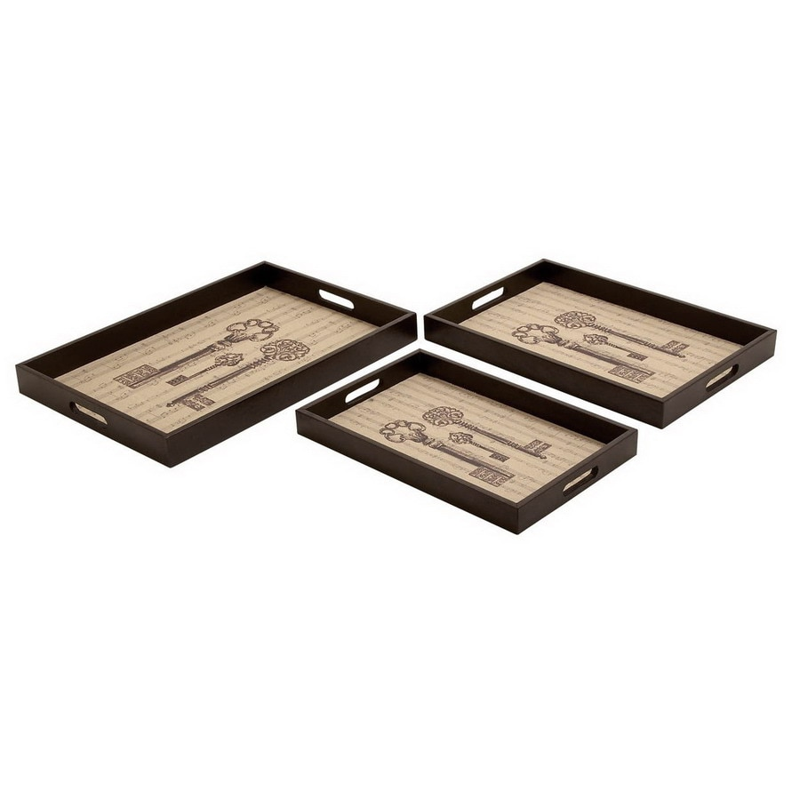 Woodland Imports Wood Rectangle Serving Tray