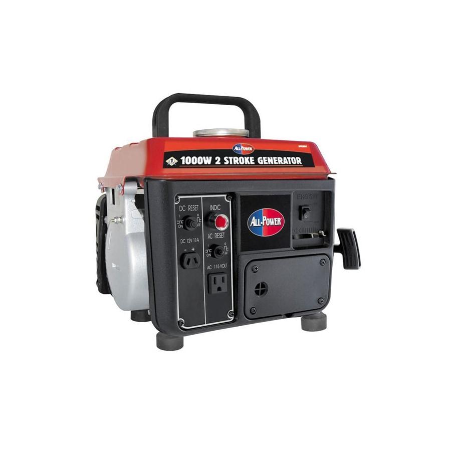All Power America 850 Running Watts Portable Generator At On Reset