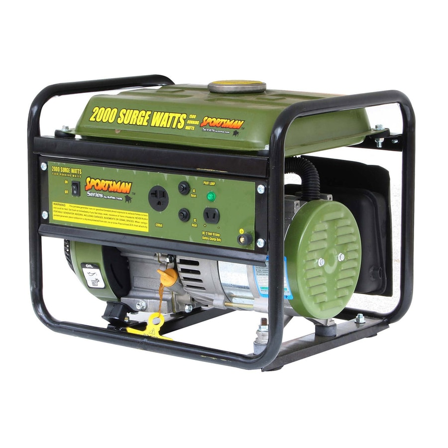 Buffalo Sportsman 1,500-Running-Watt Portable Generator with Engine
