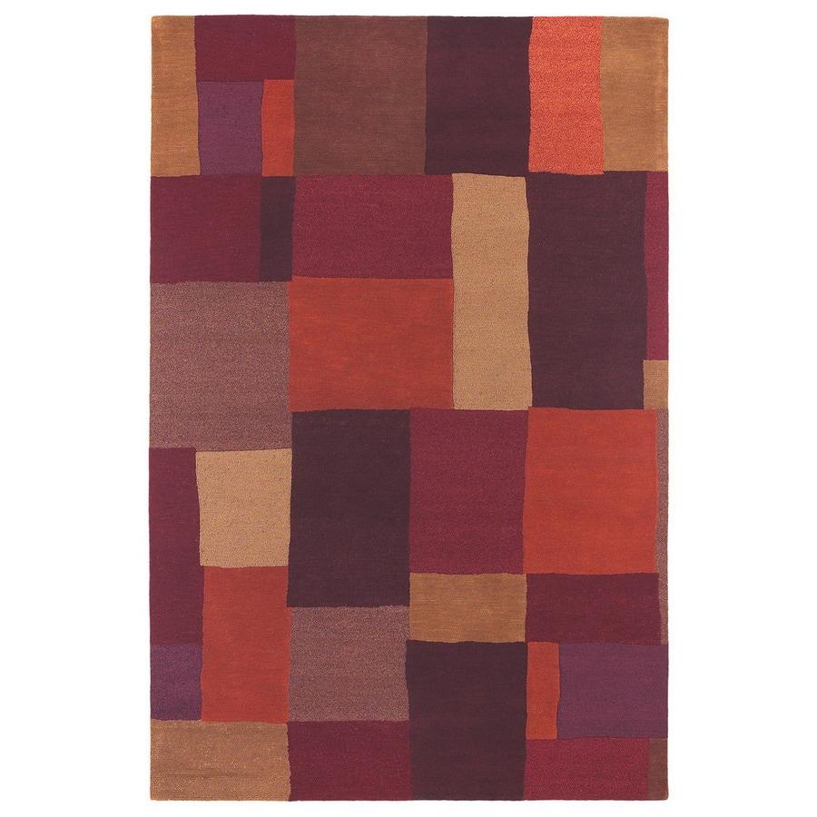 Kaleen Moods 2-ft 3-in W x 7-ft 9-in L Multicolor Wool Runner