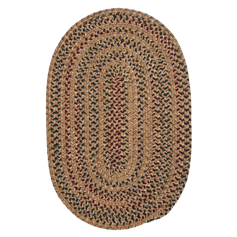 Colonial Mills Twilight Evergold Oval Indoor Braided Runner (Common: 2 x 8; Actual: 24-in W x 96-in L)