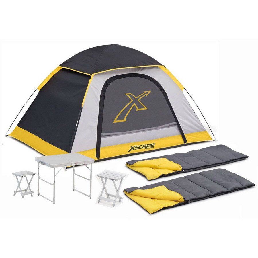 Xscape Explorer 2 Table Stools and Sleeping Bag Combo