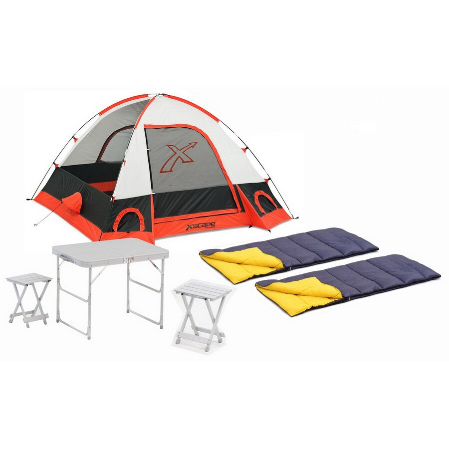 Xscape Torino 3 Table Stools & Sleeping Bag Combo