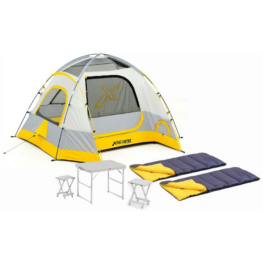 Xscape Vertex 4 Table Stools and Sleeping Bag Combo