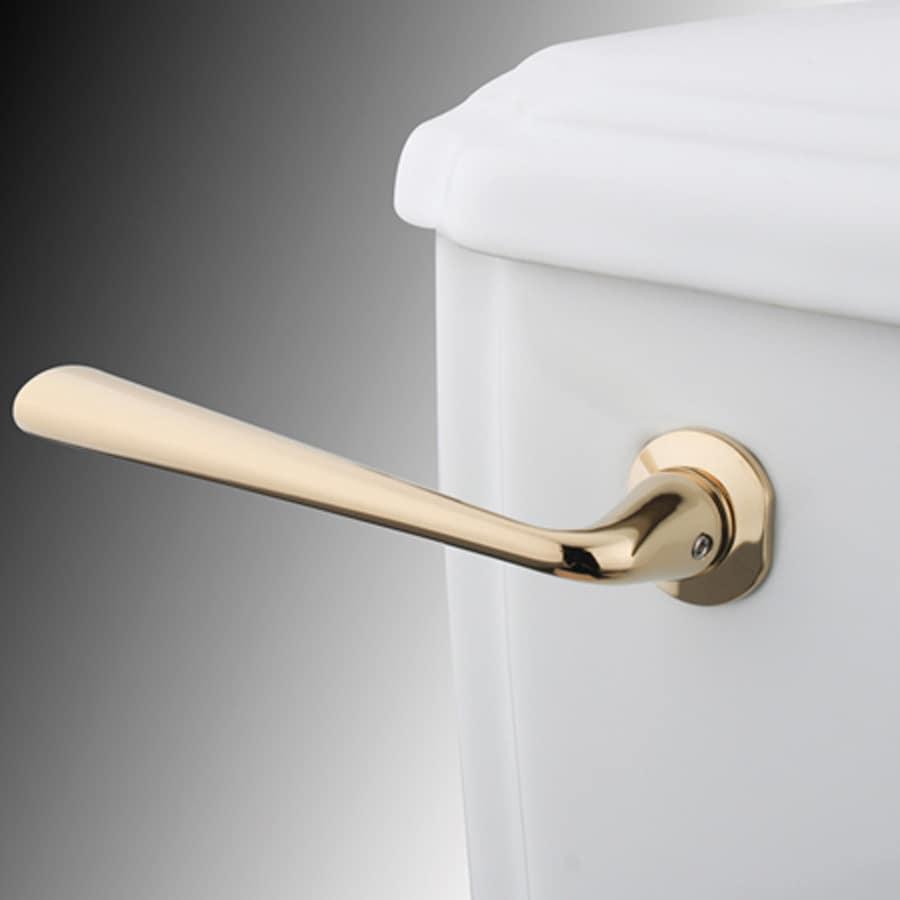 Elements of Design Silver Sage Polished Brass Toilet Handle