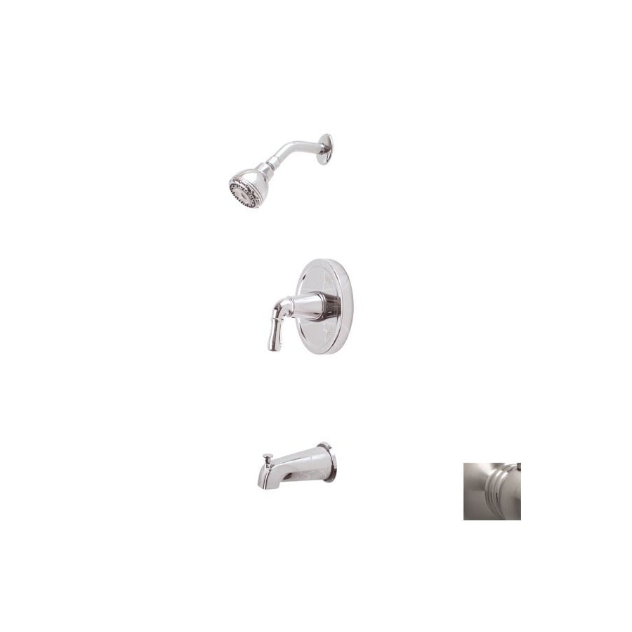 Premier Faucet Sanibel Brushed Nickel 1 Handle Bathtub And Shower Faucet  With Single Function Showerhead