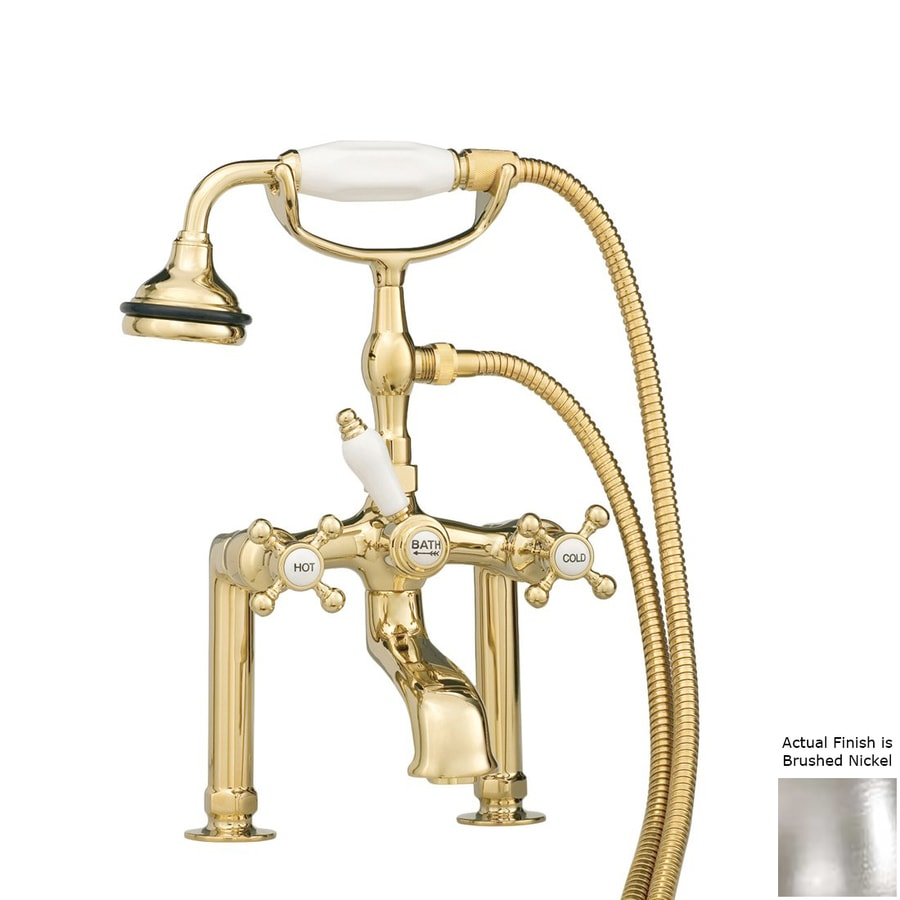 Cheviot Brushed Nickel 3-Handle Bathtub and Shower Faucet with Valve