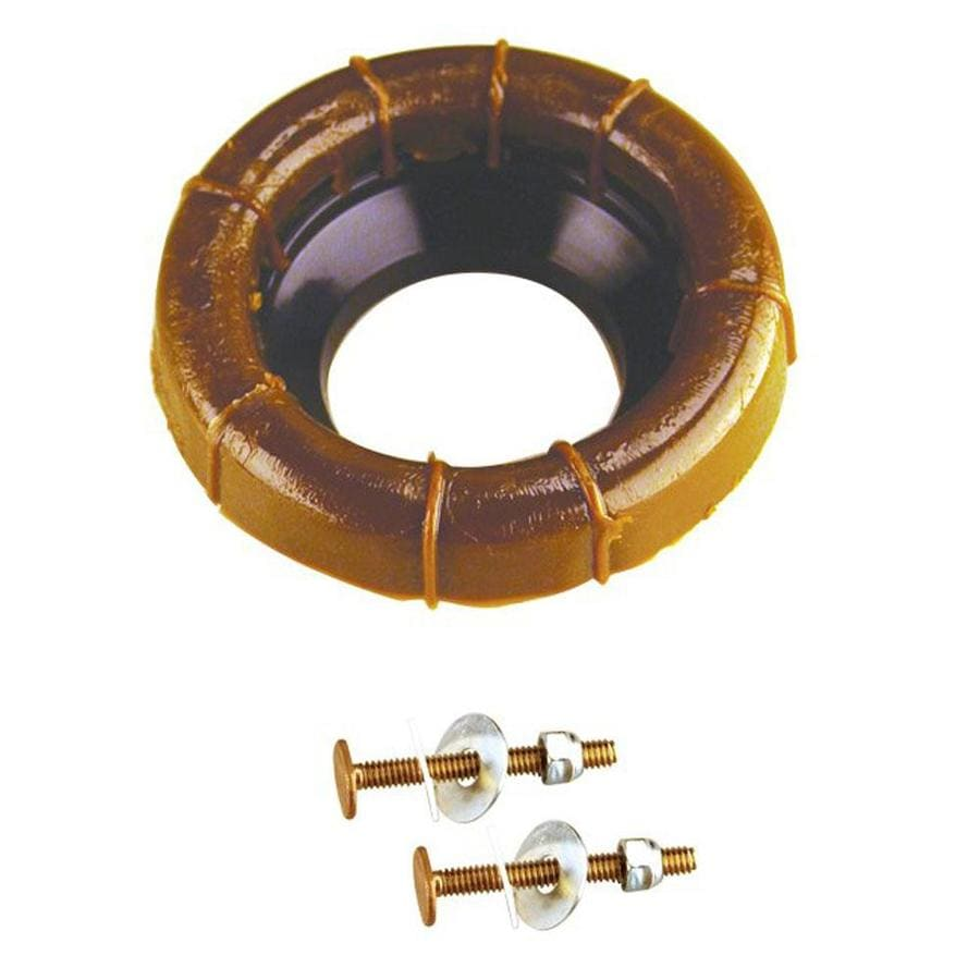 Westbrass Brass Urethane Toilet Lever Ring with Flange and Closet Bolts