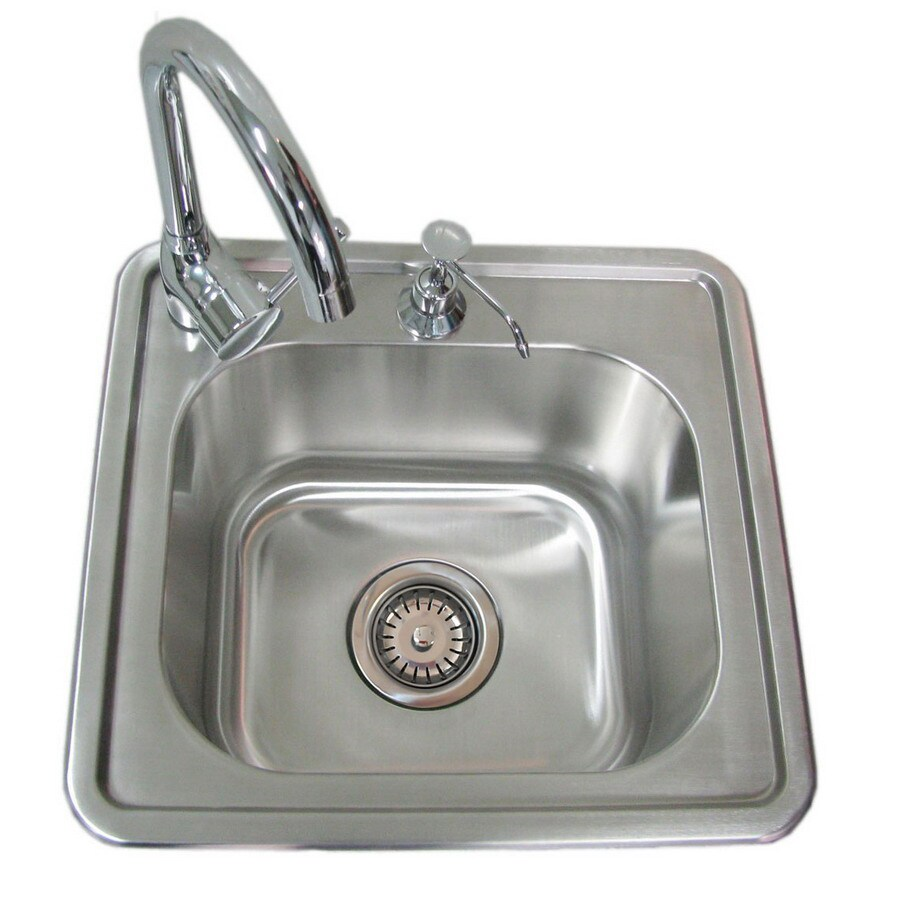 Sunstone 17 In X 16.25 In Stainless Steel Single Basin Stainless Steel Drop