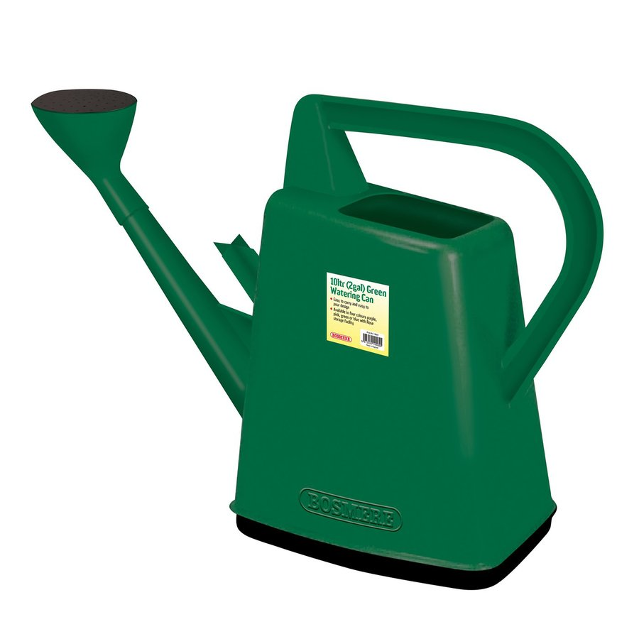 Bosmere 2.6-Gallon Green Plastic Watering Can