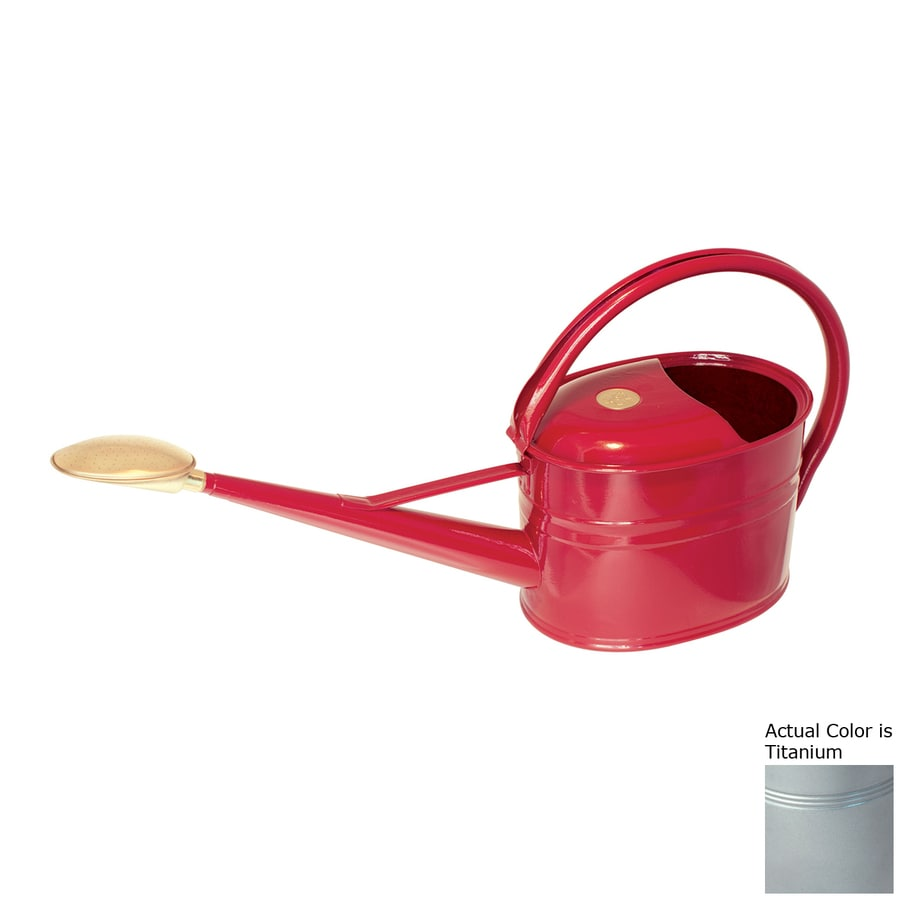 Bosmere Slimcan 1.32-Gallon Titanium Metal Watering Can