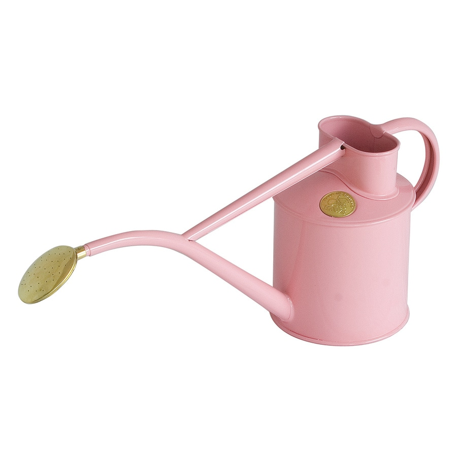 Bosmere Indoor Pot 0.26-Gallon Pink Metal Watering Can