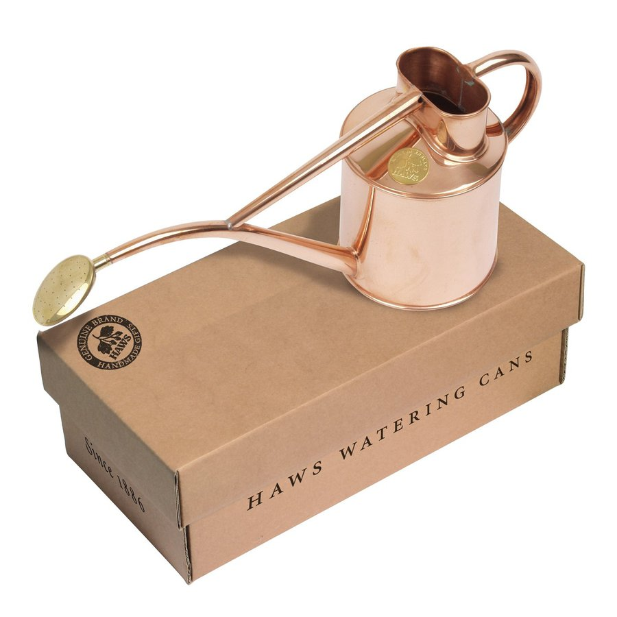 Bosmere Indoor Pot 0.26-Gallon Copper Metal Watering Can