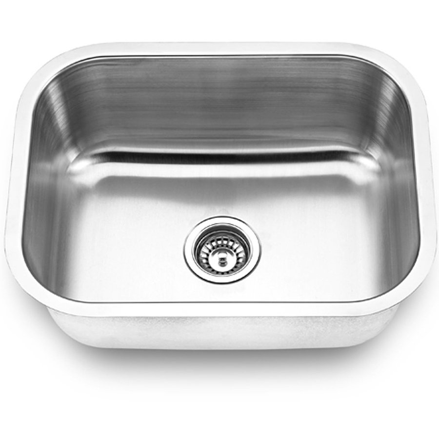 Yosemite Home Decor 23-in x 17.75-in Satin-Stainless Steel Single-Basin-Basin Stainless Steel Undermount (Customizable)-Hole Commercial Kitchen Sink