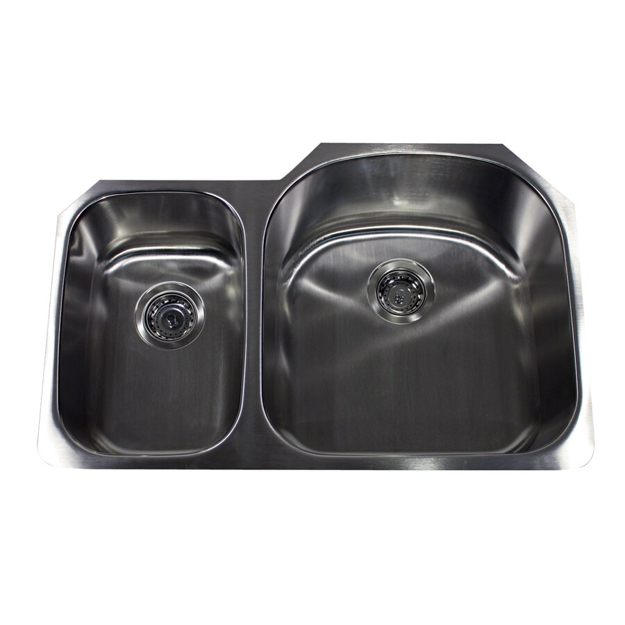 Nantucket 16-Gauge Double-Basin Undermount Stainless Steel Kitchen Sink