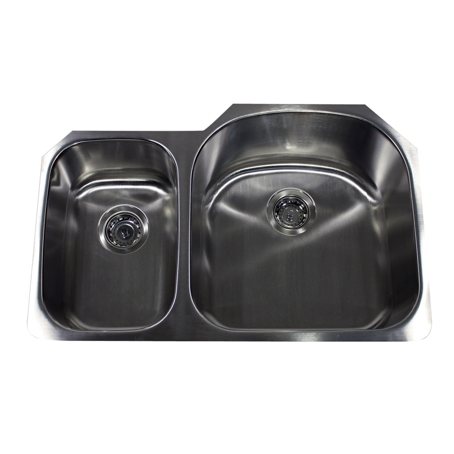 16 Gauge Undermount Kitchen Sink : ... 16-Gauge Double-Basin Undermount Stainless Steel Kitchen Sink at Lowes