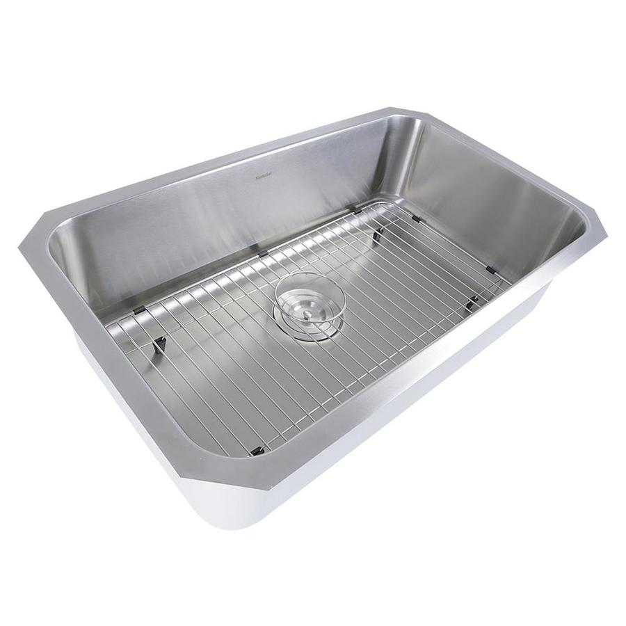 Stainless Steel Sink 16 Gauge : ... 16-Gauge Single-Basin Undermount Stainless Steel Kitchen Sink at Lowes