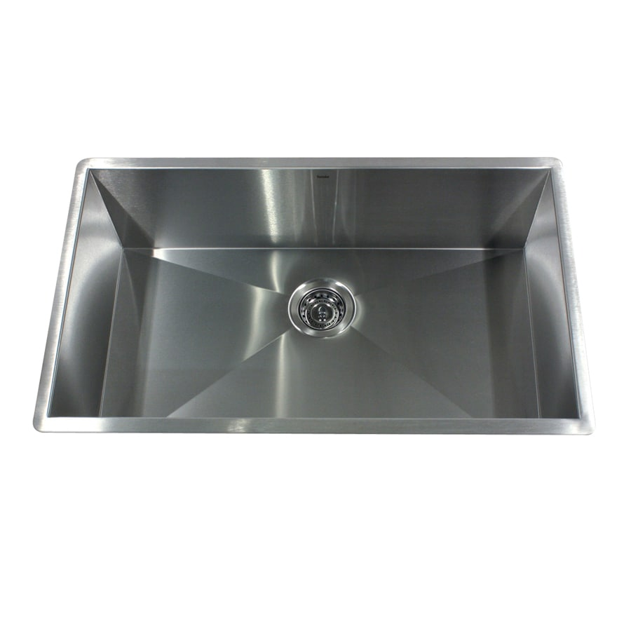 Stainless Steel Sinks Lowes : ... Single-Basin Stainless Steel Undermount Kitchen Sink at Lowes.com