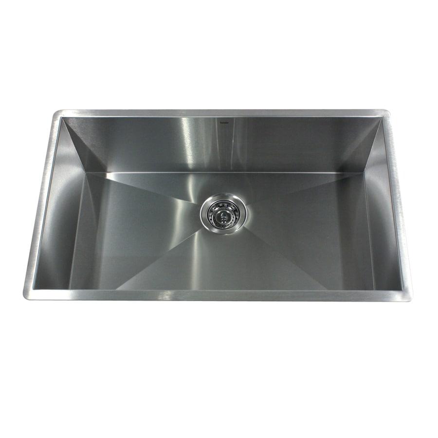 Nantucket 19-in x 32-in Satin Single-Basin Stainless Steel Undermount Kitchen Sink