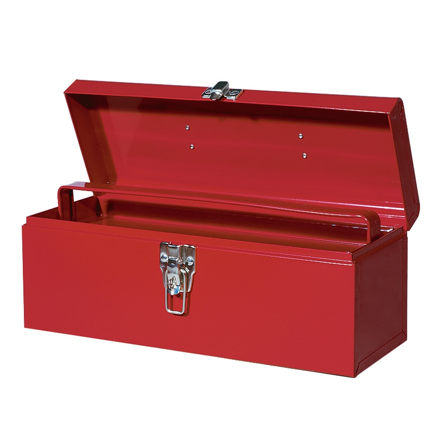 International Tool Storage Economy 16-in Red Steel Lockable Tool Box