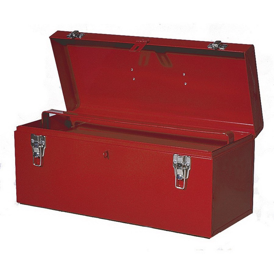 International Tool Storage 21-in Red Steel Lockable Tool Box