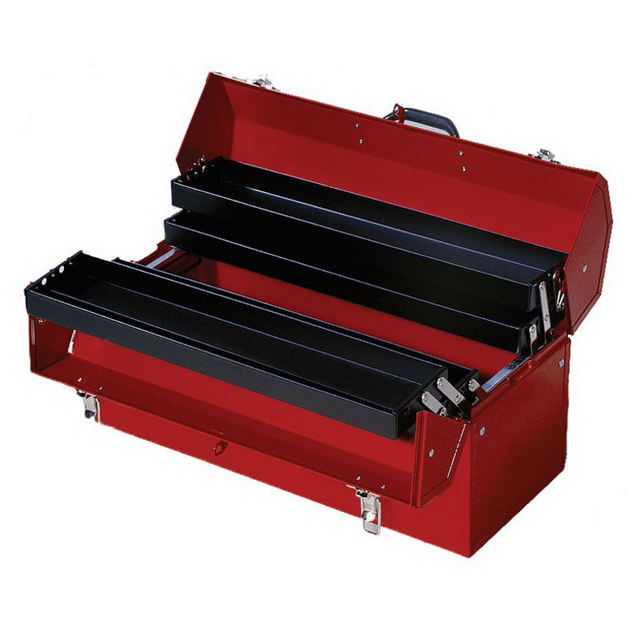 International Tool Storage 21.25-in Red Steel Lockable Tool Box