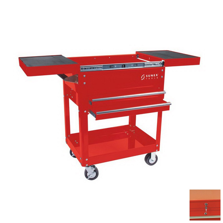 Sunex Tools 39.4-in 2-Drawer Utility Cart