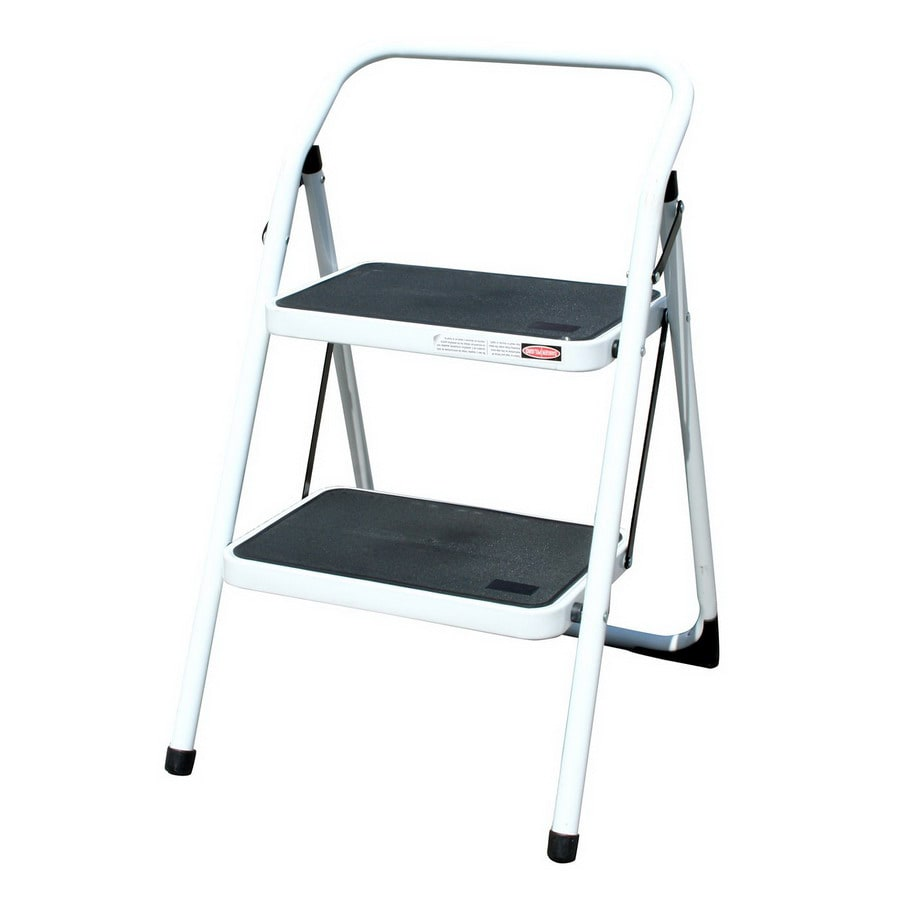 Shop Buffalo 2 Step 200 Lbs Capacity White Steel Foldable