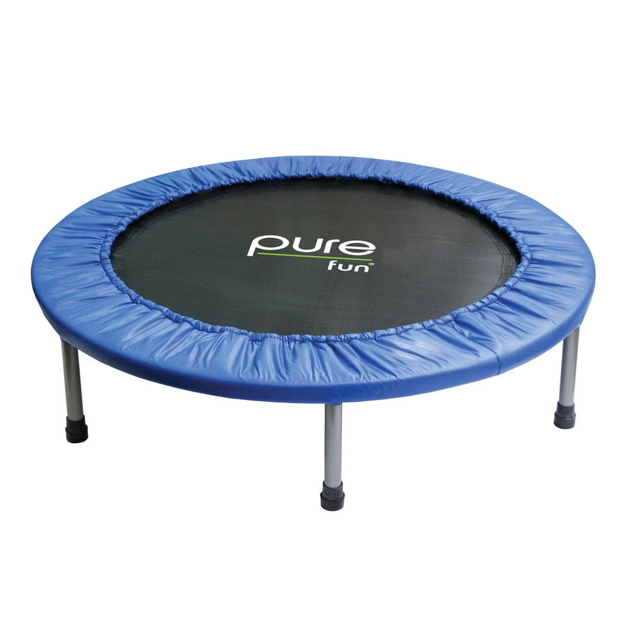 Pure Fun 3.166-ft Round Blue Mini Trampoline