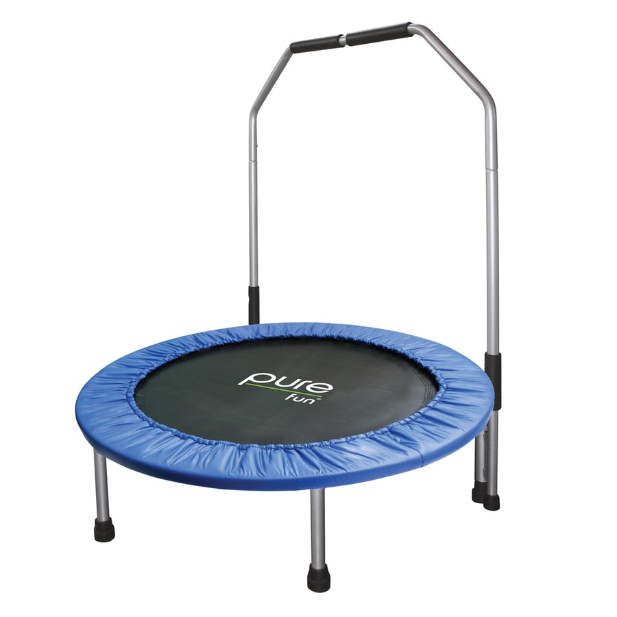 Shop Pure Fun 3333 Ft Round Blue Mini Trampoline At Lowes
