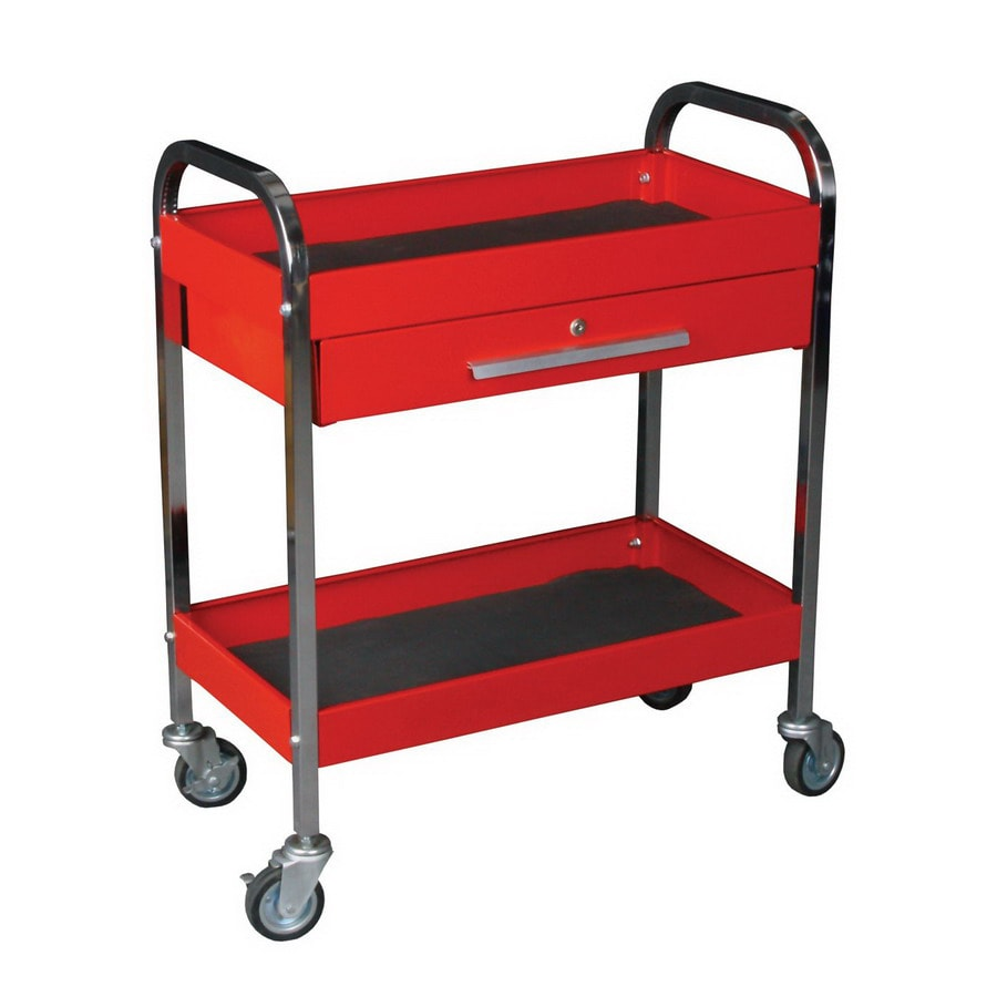 lowes utility cart plastic work tool international 34in utility cart shop at lowescom