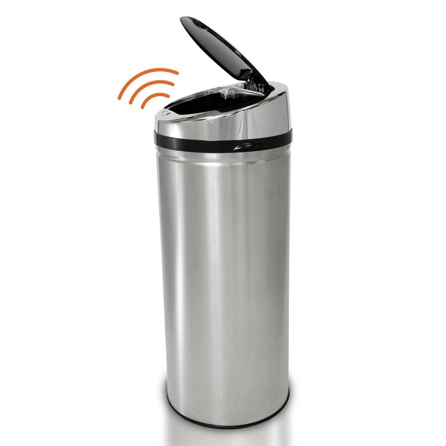 Stainless Steel Kitchen Garbage Can: Shop ITouchless 8-Gallon Stainless Steel Indoor Garbage