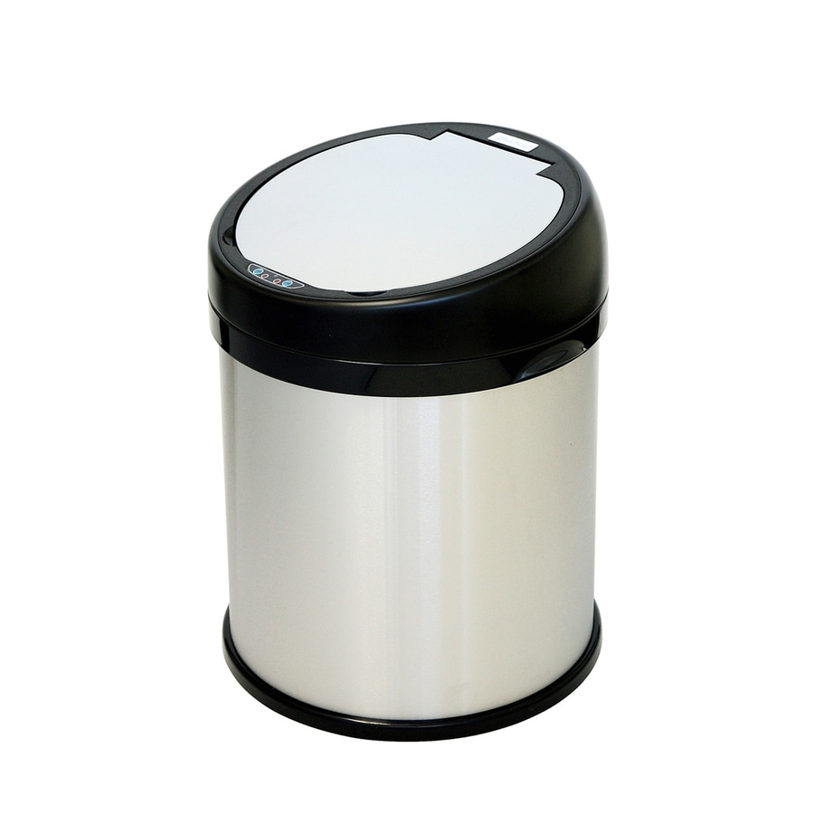 iTouchless 8-Gallon Brushed Stainless Steel Indoor Garbage Can