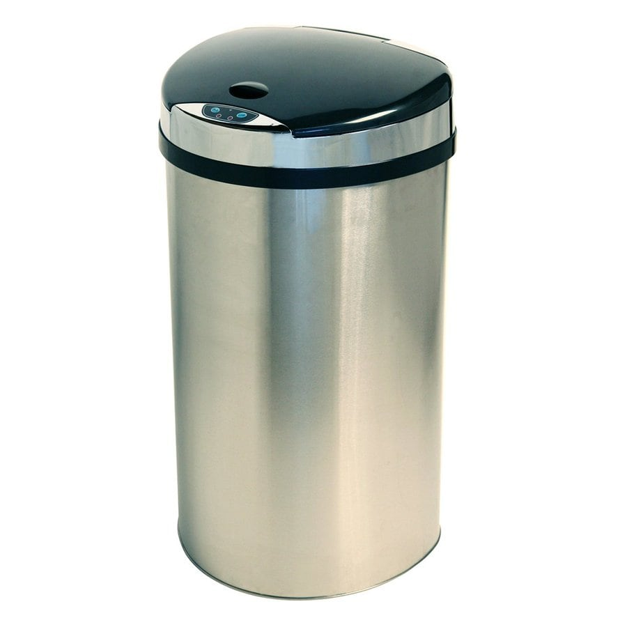 Itouchless 13 Gallon Stainless Steel Metal Touchless Trash