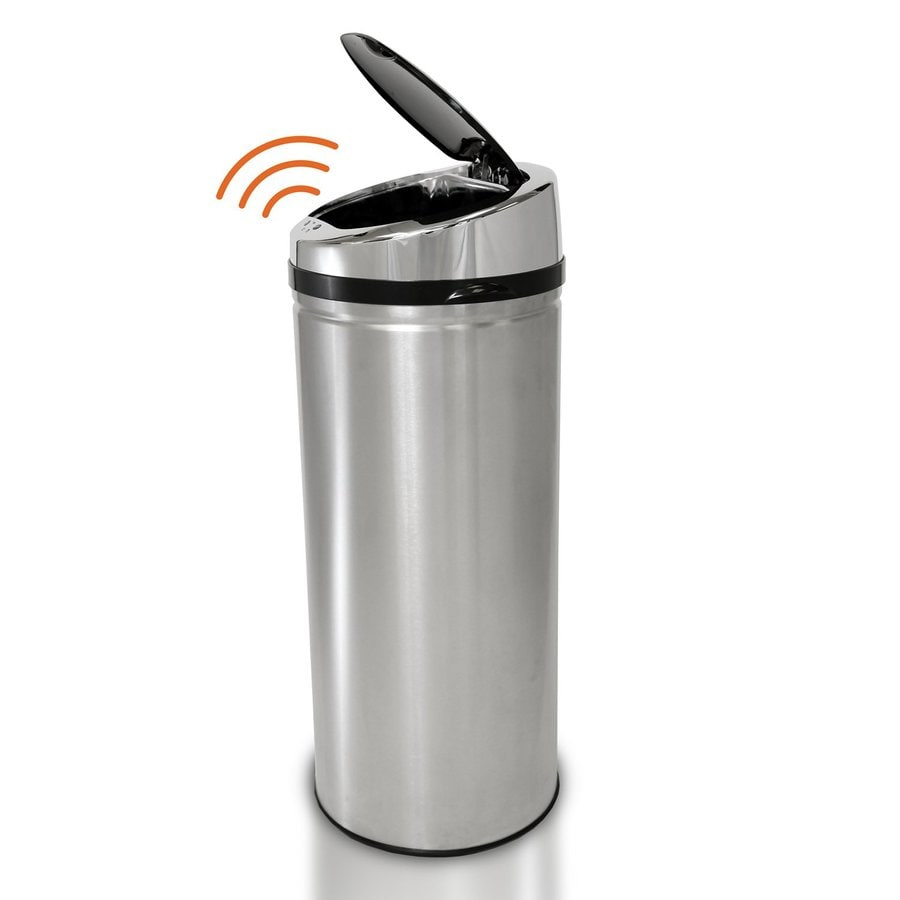 iTouchless 13-Gallon Stainless Steel Indoor Garbage Can