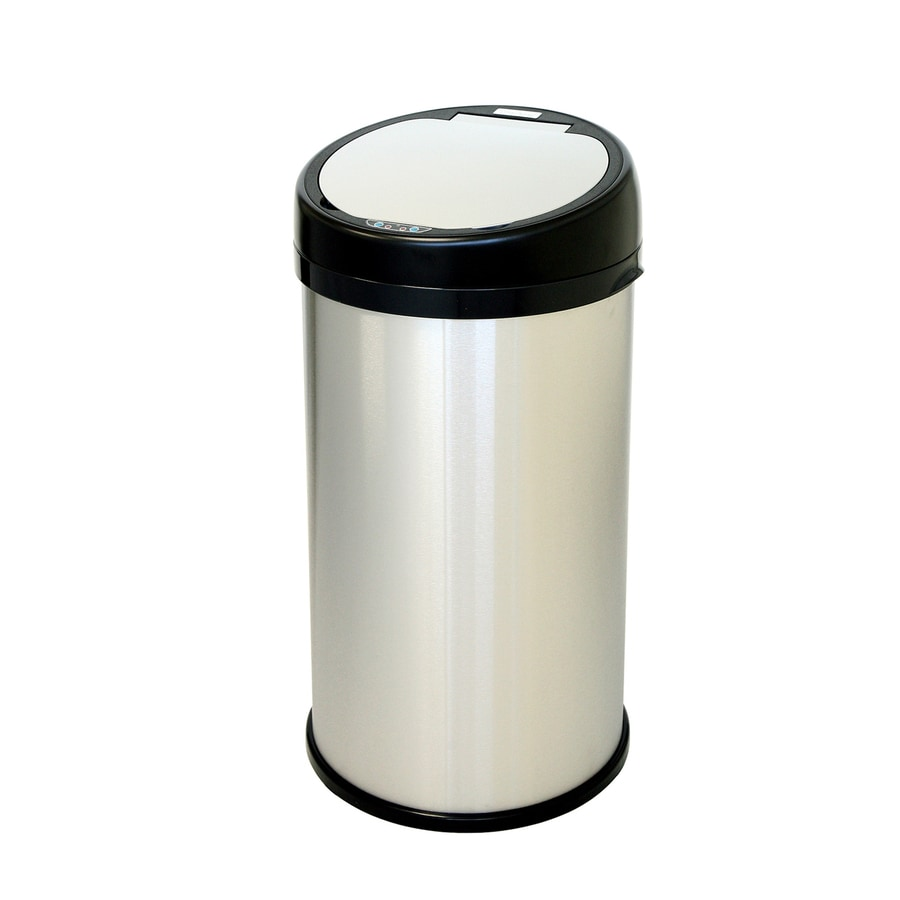 iTouchless 13-Gallon Brushed Stainless Steel Indoor Garbage Can