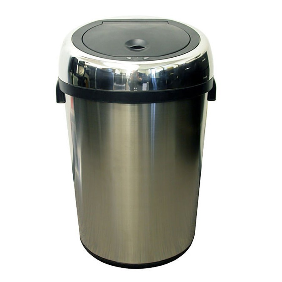 iTouchless 18-Gallon Stainless Steel Indoor Garbage Can