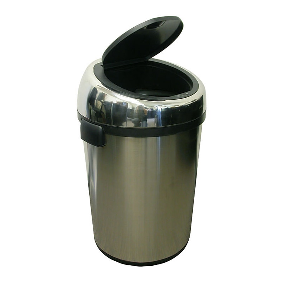 ITouchless 23 Gallon Stainless Steel Metal Touchless Trash Can With Lid