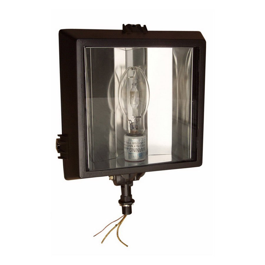 Morris Products 13.75-in 1-Head Metal Halide Bronze Switch-Controlled Flood Light
