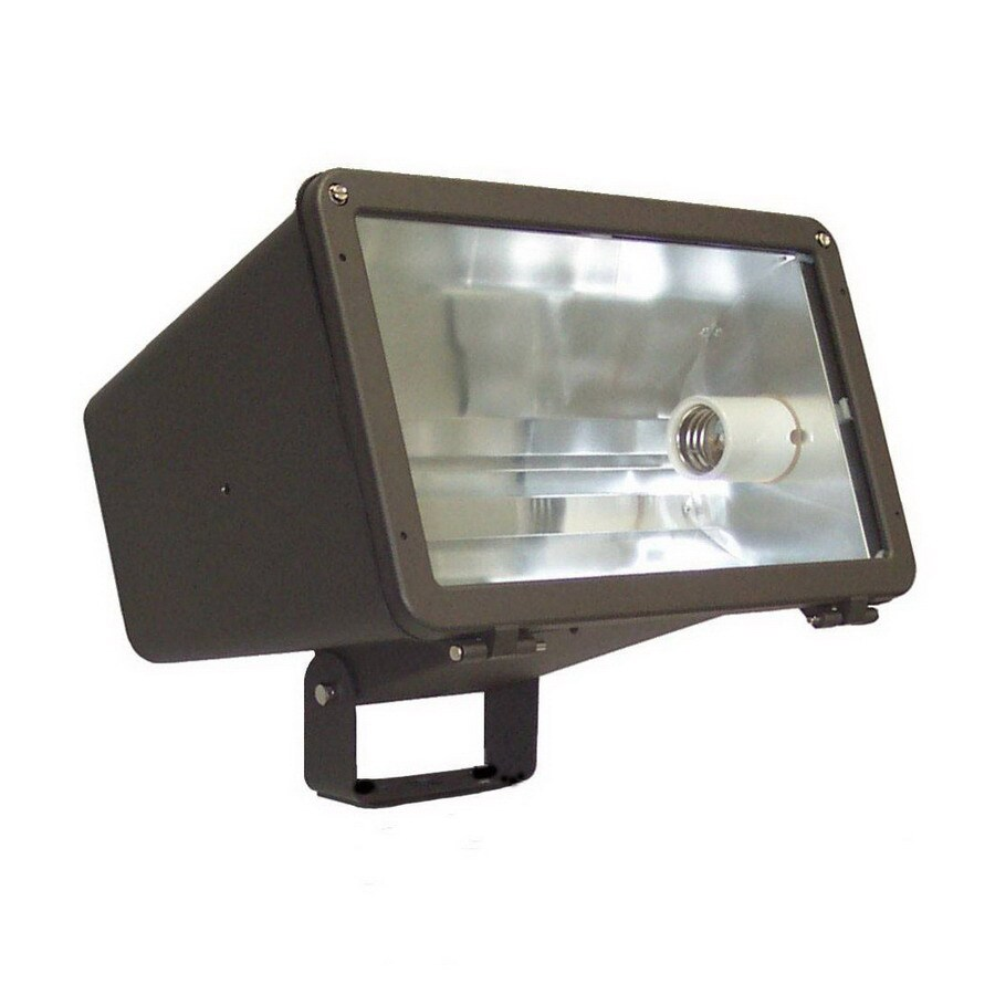 Morris Products 10.37-in 1-Head Metal Halide Bronze Switch-Controlled Flood Light