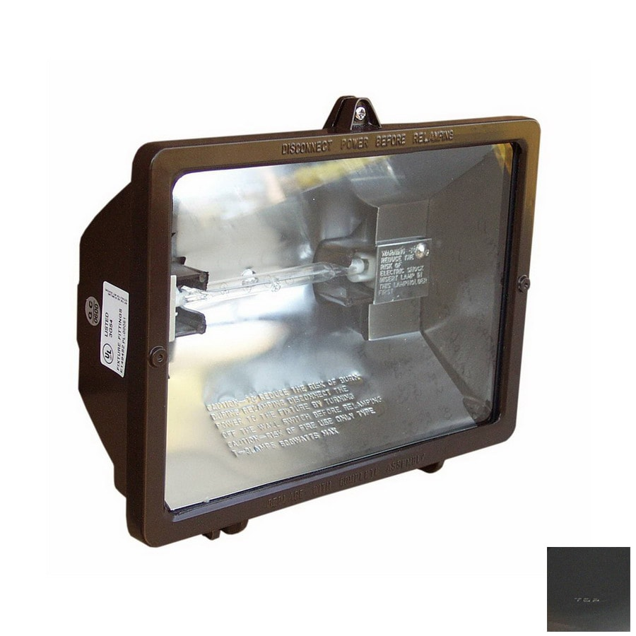 Morris Products 7.75-in 1-Head Halogen Bronze Switch-Controlled Flood Light