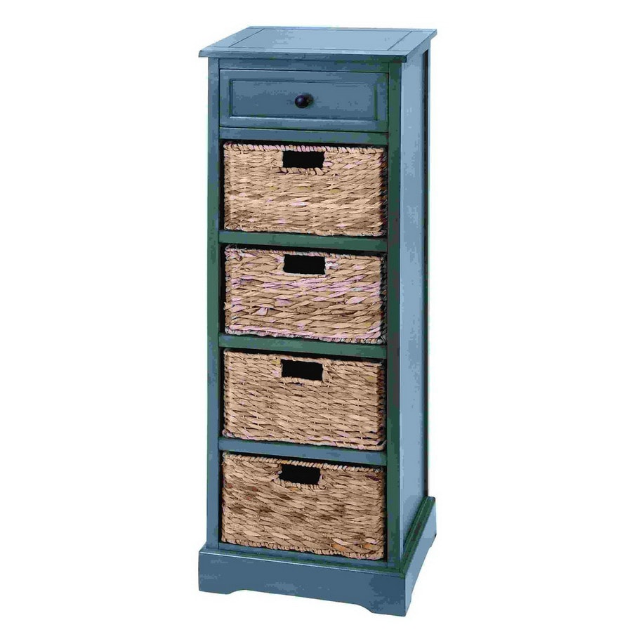 Woodland Imports French Blue Office Cabinet