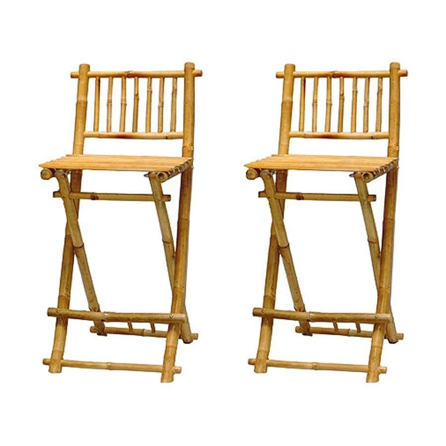 Bamboo 54 Set Of 2 Coastal Bamboo Bar Stools
