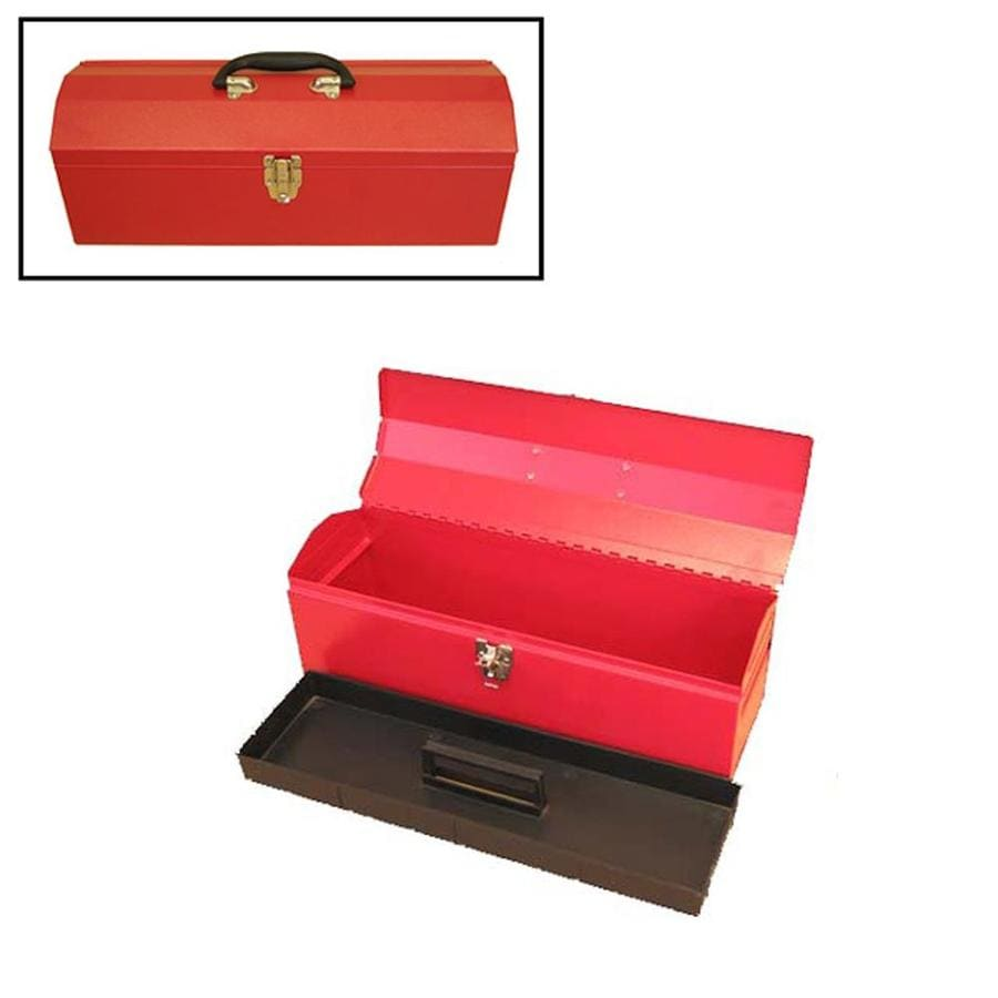 Excel 19.1-in Red Steel Lockable Tool Box