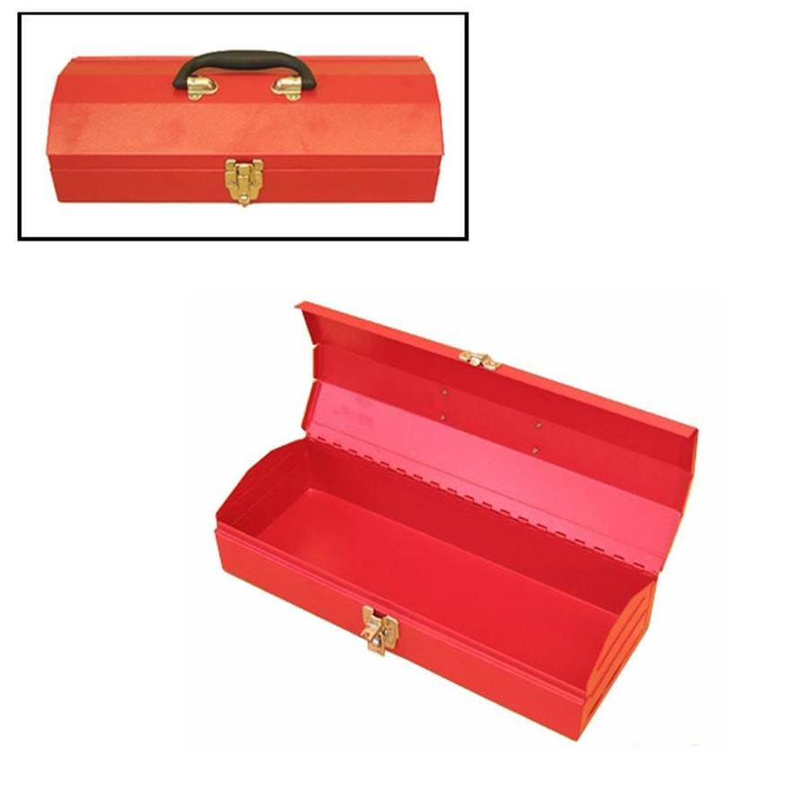 Excel 16.1-in Red Steel Lockable Tool Box