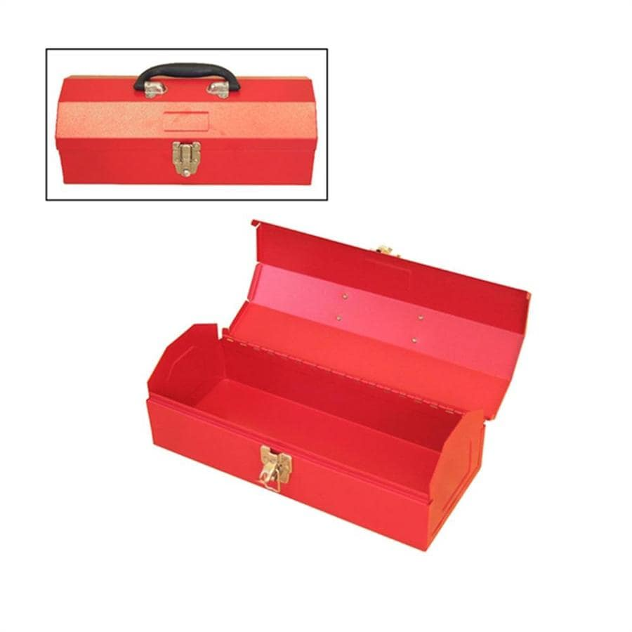 Excel 14.2-in Red Steel Lockable Tool Box