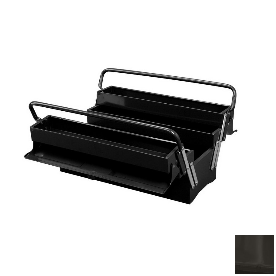 Excel 19.5-in Black Steel Tool Box