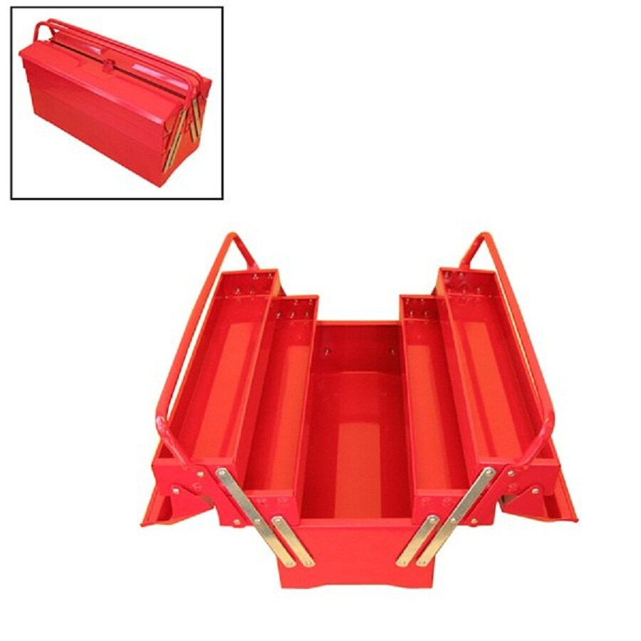 Excel 19.5-in Red Steel Tool Box