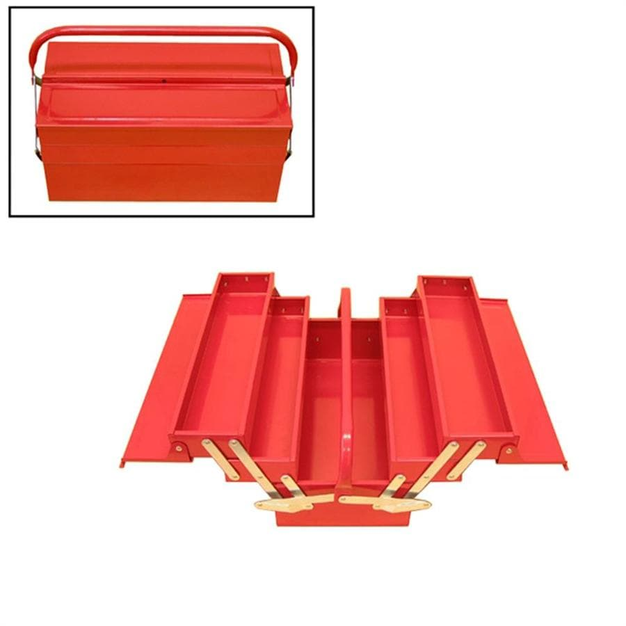 Excel 15.9-in Red Steel Tool Box